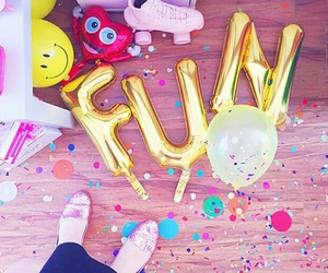 fun, balloons, and party image