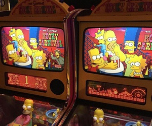 neon, simpsons, and cassino image