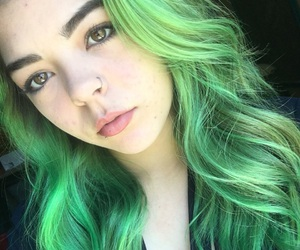 colored hair, curly hair, and cute girl image