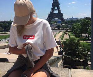 cap, paris, and street image