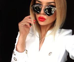 fashion, girl, and lips image