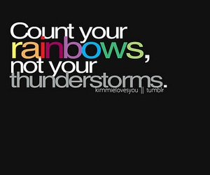 rainbow, quote, and thunderstorm image