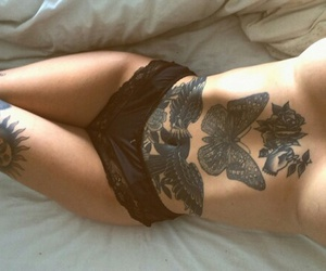 ink, tattooed girl, and Tattoos image