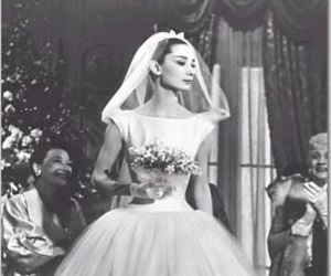 audrey hepburn and bride image