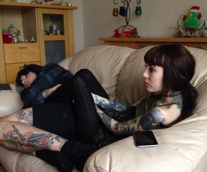 oliver sykes, tattoo girl, and tattoo image