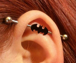 batman, piercing, and industrial image