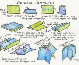 how to, diy bookmaking, and origami pamphlet image