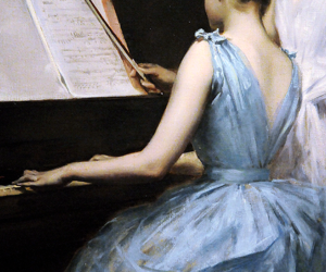 piano and painting image
