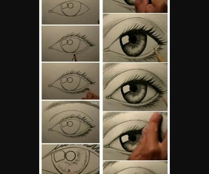 drawing and eyes image