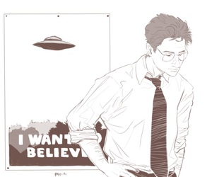 aliens, fox mulder, and I want to believe image