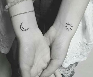 moon, sun, and tattoo image