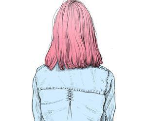 girl, pink, and art image