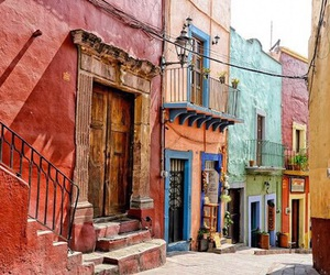 colourful, street, and Sunny image