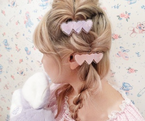 hair, kawaii, and pink image