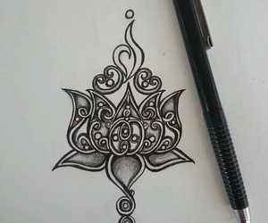 drawing, art, and tattoo image