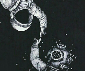 space, astronaut, and wallpaper image