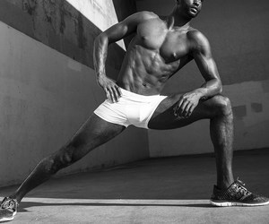 abs, black man, and fitness image