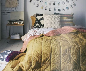 bed, cosy, and decoration image