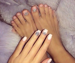 nails, luxury, and manicure image