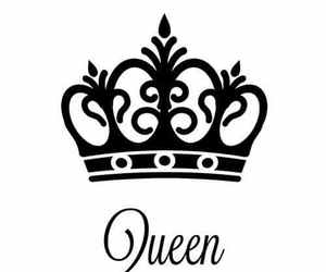 Queen, black, and crown image