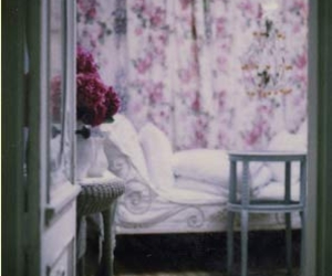 floral, interior, and purple image