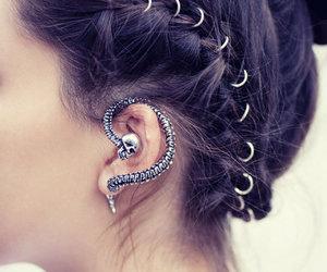 hair and earrings image