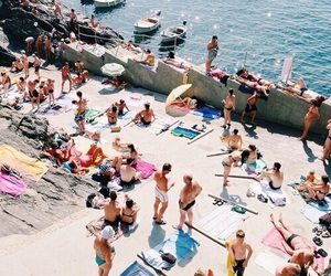 beach, summer, and people image