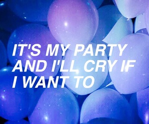 balloons, blue, and cry baby image