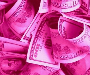 pink, money, and wallpaper image