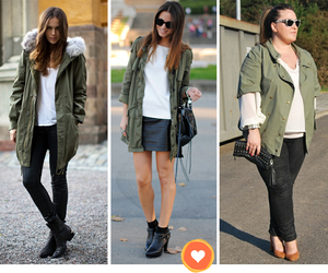 look, parka, and style image
