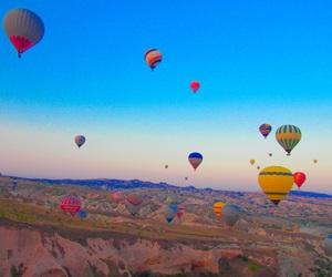 airballoon, travel, and turkey image