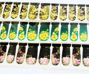 stickers, flower nail decals, and accesories image