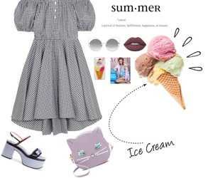 ice cream, outfit, and Polyvore image