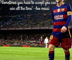 Barca, football, and quote image