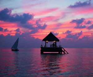 Maldives, sea, and sky image