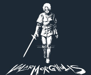 stark, game of thrones, and valar morghulis image