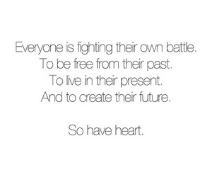 quote, heart, and battle image