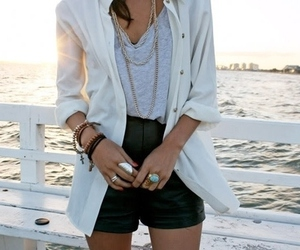 fashion, beach, and shorts image