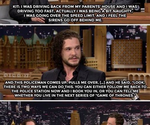 funny, kit harington, and game of thrones image
