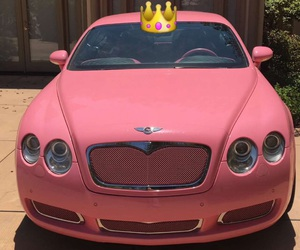 Bentley, car, and pink image