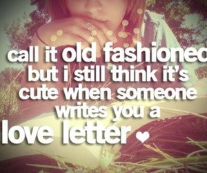 love, love letter, and quote image