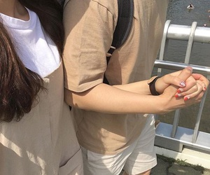 couple, aesthetic, and beige image