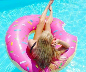 summer, donuts, and girl image