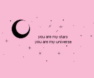 header, pink, and moon image