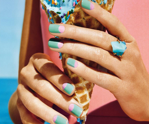 nails, blue, and food image