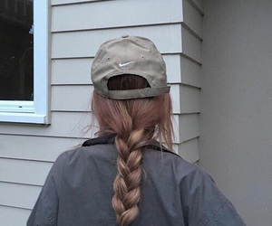 nike, girl, and braid image