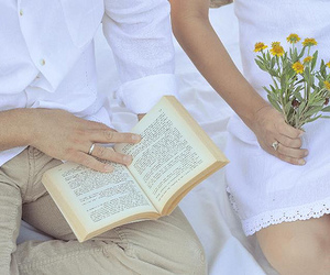 book, married, and reading image