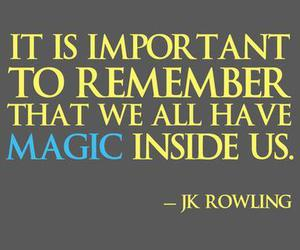 magic, jk rowling, and quote image