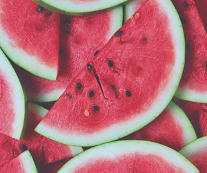 food, melon, and red image
