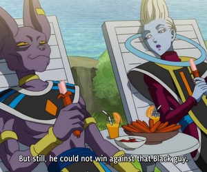 dbs, whis, and beerus image